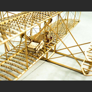 Wright Flyer-I 510mm Holzbaukasten Standmodell
